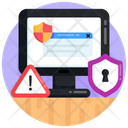 Cybersecurity Cyber Protection System Alert Icon