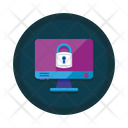 Lock Security Cyber Monitoring Icon