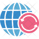 Cyber Security Global Communication Global Syncing Icon