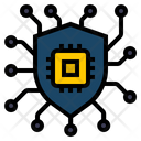 Cyber Security Shield Protection Icon