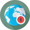 Cyber Security Globe Icon