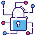 Cyber Security Network Data Encryption Protected Network Icon