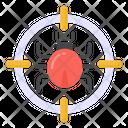 Malware Target Hacker Cyber Target Icon