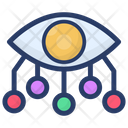 Cyber Technology Eye Monitoring Network Monitoring Icon