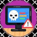 Cyber Error Cyber Warning Cyber Threat Icon