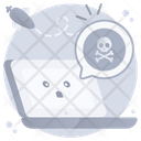 Cyber Error Cyber Threat Cyber Crime Icon