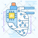 Cybernetics Autonetics Machine Monitoring Icon