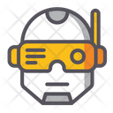 Cyberpunk Agumentation Ar Technology Icon
