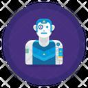 Cyberpunk Augmentation Icon