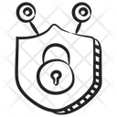 Cyber Protection Shield Lock Cybersecurity Icon