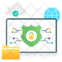 Network Protection Cybersecurity Cloud Protection Icon