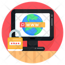 Secure Browsing Cybersecurity Secure Web Search Icon