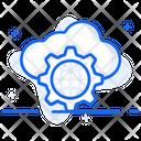 Cyberspace Cloud Computing Cloud Technology Icon