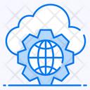 Cyberspace Cloud Network Global Network Icon