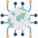 Cyberspace Global Connections Global Network Icon