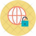 Cyberspace Globe Security Icon