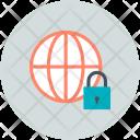 Cyberspace Globe Lock Icon