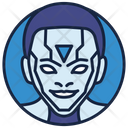 Cyborg Artificial Intelligence Robot Icon