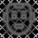 Cyborg Robot Face Icon