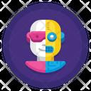 Half Human Half Robot Icon