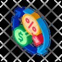 Cycle Money Interest Icon