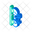 Bicycle Parking Isometric Icon
