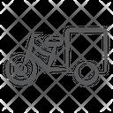 Cycle Cart Cycle Rickshaw Passenger Transportation Icon