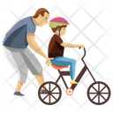 Cycle Riding Learning Cycle Child Rearing Icon