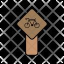 Cycle Traffic Board Icon