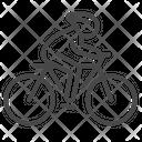 Cycling Cyclist Solo Icon