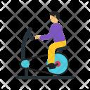 Cycling Human Activity Icon