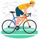 Cycling Cycle Rider Bicycle Icon