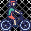 Bike Woman Mountain Icon