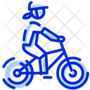 Bike Woman Mountain Icon