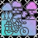 Cycling Bike Travel Icon