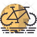 Cycling Bicycle Camping Icon