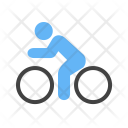 Cycling Person Bicycle Icon