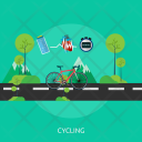 Cycling Sport Healthy Icon