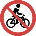 Cycling not allowed Icon