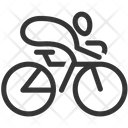 Cycling On Road Icon