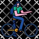 Cycling Woman Icon