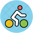 Cyclist Cycling Physical Icon