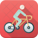 Cyclist Cycling Competition Icon