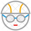 Cyclist Cycling Face Icon