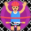 Cyclist Winner Icon