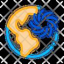 Cyclone Planet World Icon
