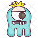 Cyclops Monster Creature Monster Face Icon