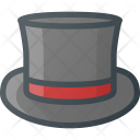 Cylinder Hat Retro Icon