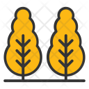 Cypress Trees Bald Icon