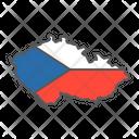 Czech Republic Geography Icon